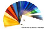 Zeildoek kleuren pallet