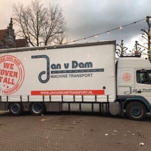 vrachtwagen kijkvenster in schuifzeil